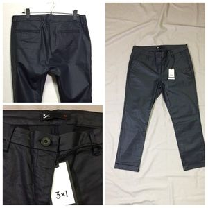 NWT 3x1 Coated Jeans in Black Size 30 🇺🇸